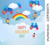 happy children's day for... | Shutterstock .eps vector #1209306574
