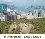 aerial panorama of hong kong... | Shutterstock . vector #1209312091