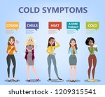 cold and flu symptoms... | Shutterstock .eps vector #1209315541