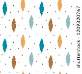 cute colorful feathers ethnic... | Shutterstock .eps vector #1209320767
