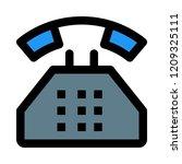 vintage dial phone | Shutterstock .eps vector #1209325111