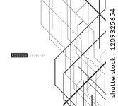 futuristic digital techology...   Shutterstock .eps vector #1209325654