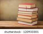 bunch of vintage books on... | Shutterstock . vector #120933301