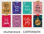 christmas and new year tags and ... | Shutterstock .eps vector #1209340654