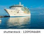 cozumel mexico cruise ship port ... | Shutterstock . vector #1209346684