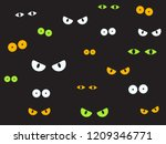 vector illustration spooky eyes ... | Shutterstock .eps vector #1209346771