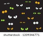 Vector Illustration Spooky Eyes ...