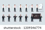 businessman professor stand ... | Shutterstock .eps vector #1209346774