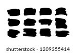 paint drawing set of black... | Shutterstock .eps vector #1209355414