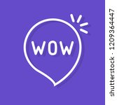 wow word in speech bubble. flat ... | Shutterstock .eps vector #1209364447