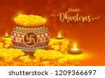 shubh dhanteras festival card... | Shutterstock .eps vector #1209366697