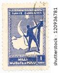 turkey   circa 1941  a stamp...   Shutterstock . vector #120936781