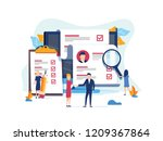 Stock vector human resources recruitment concept for web page banner presentation social media documents 1209367864