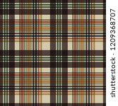 plaid seamless pattern   plaid... | Shutterstock .eps vector #1209368707