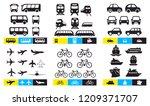 set of simple monochromatic... | Shutterstock .eps vector #1209371707