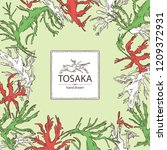 background with tosaka ... | Shutterstock .eps vector #1209372931