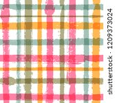 crossed lines chequered pattern ... | Shutterstock .eps vector #1209373024