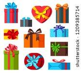 celebration icon set of... | Shutterstock .eps vector #1209385714