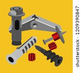 anchors of hardware store | Shutterstock .eps vector #1209390847