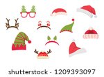 christmas photo booth and... | Shutterstock .eps vector #1209393097