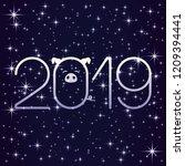 shining stars on a blue... | Shutterstock .eps vector #1209394441
