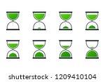 vector collection of hourglass... | Shutterstock .eps vector #1209410104