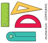 vector set of ruler | Shutterstock .eps vector #1209418441