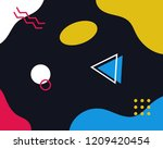 abstract pop art line and dots... | Shutterstock .eps vector #1209420454