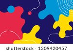 abstract pop art line and dots... | Shutterstock .eps vector #1209420457