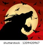 halloween illustration with a... | Shutterstock .eps vector #1209420967