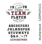 font team player. crafted retro ... | Shutterstock .eps vector #1209424111
