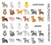 toy animals cartoon icons in... | Shutterstock .eps vector #1209426784