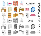 furniture and interior cartoon... | Shutterstock .eps vector #1209426841