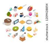 sweet food icons set. isometric ... | Shutterstock .eps vector #1209428854