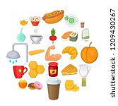 mead icons set. cartoon set of... | Shutterstock .eps vector #1209430267