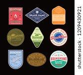 vintage logo and label design... | Shutterstock .eps vector #1209430921