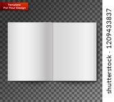 blank open magazine | Shutterstock .eps vector #1209433837