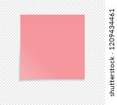 red sticky note isolated on a...   Shutterstock .eps vector #1209434461