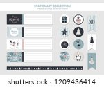 hipster new year and merry... | Shutterstock .eps vector #1209436414