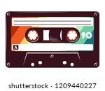 cassette tape retro vintage... | Shutterstock .eps vector #1209440227