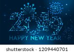 happy new year 2019 banner... | Shutterstock .eps vector #1209440701