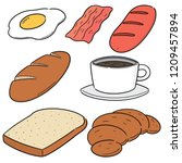 vector set of breakfast | Shutterstock .eps vector #1209457894