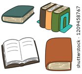 vector set of book | Shutterstock .eps vector #1209458767