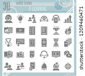 e learning glyph icon set ... | Shutterstock .eps vector #1209460471