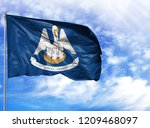 flag state of louisiana on a...   Shutterstock . vector #1209468097