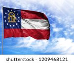 flag state of georgia on a...   Shutterstock . vector #1209468121