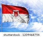 national flag of vorarlberg on...   Shutterstock . vector #1209468754