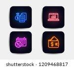neon glow lights. set of... | Shutterstock .eps vector #1209468817
