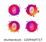fingerprint icons.... | Shutterstock .eps vector #1209469717
