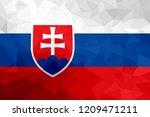 slovakia polygonal flag. mosaic ... | Shutterstock . vector #1209471211